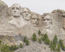 Mount Rushmore During The Summer At The Black Hills Of South Dakota