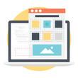 Landing page flat vector illustration