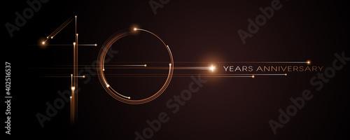 10 years anniversary vector icon, logo. Graphic design element Wallpaper Mural