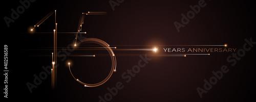 Obraz na plátně 15 years anniversary vector icon, logo. Graphic design element