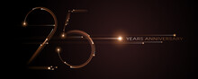 25 Years Anniversary Vector Icon, Logo. Graphic Design Element