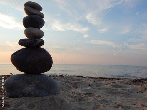 Photo stones on the beach