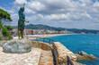 canvas print picture - Badeort Lloret de Mar an der Costa Brava,Katalonien,Mittelmeer,Spanien