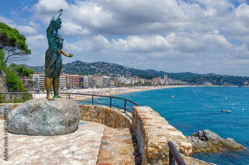 Fototapeta Badeort Lloret de Mar an der Costa Brava,Katalonien,Mittelmeer,Spanien