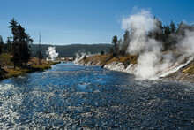 Thermal Activity Along The Firehole River In Yellowstone National Park