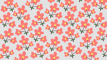Pattern Of Bouquest Flowers Background Template