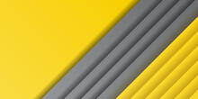 Trendy Yellow Color Of 2021 Background. Yellow Grey White Abstract Presentation Background With Template Corporate Concept Yellow Black Grey And White Contrast Background.