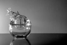 Paperwhite Narcissus Flower Bunch In Round Glass Vase Background Variations