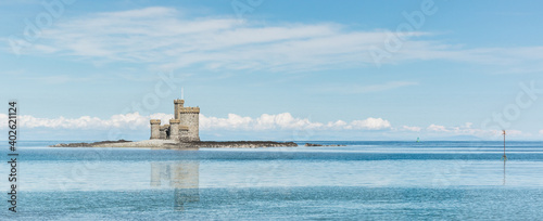 Canvas Print Castle On island in Ramsey Isle Of man