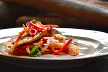 Escabeche. Fried Fish Marinated With Vegetables