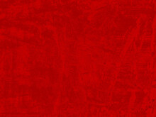 Red Background With Dark Abstract Splashes. Red And Black Texture