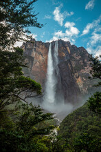 Photo Of Angel Falls, The Highest Waterfall In The World, Located In Venezuela
