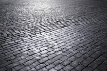 Cement Brick Squared Stone Floor Background. Concrete Paving Slabs. Paving Slabs