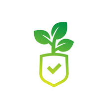 Crop Protection, Agricultural Insurance Icon, Vector Logo