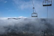 Morning Mist In Snowy Mountain, Thredbo, Australia