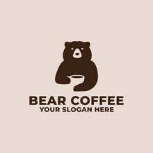 Coffee Bear Logo Mascot Design