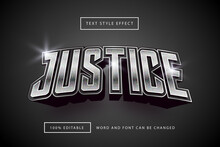 Silver Justice Text Effect Premium Free Download