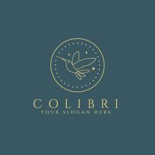Colibri Bird Logo Design Template