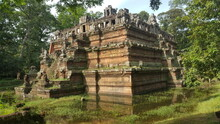 Cambodia. Phimeanakas Temple. Phimeanakas Is Located Inside The Walled Royal Palace At Angkor Thom North Of Baphuon. A Khleang - Style Hindu Temple Built In The Late 10th Century. Siem Reap Province.