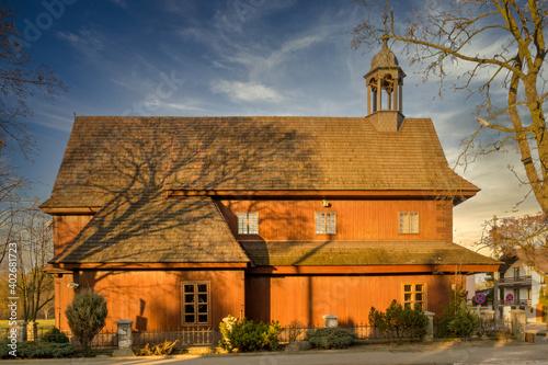 Garrison Church in the city of Lask, Poland.