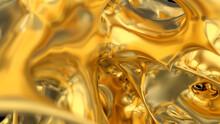 Abstract Gold Explosion.  Splash Burst Liquid. Gold Texture. Lava, Nougat, Caramel, Amber, Honey, Oil.