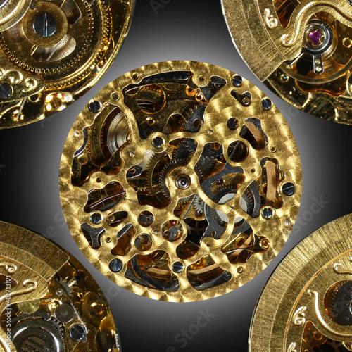 Fotomural Meccanismo di orologio automatico meccanico