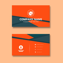 Orange Papercraft Style Business Card