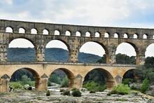 Pont Du Gard, Photo As A Background , In Pont Du Gard, Gardon, Nimes France