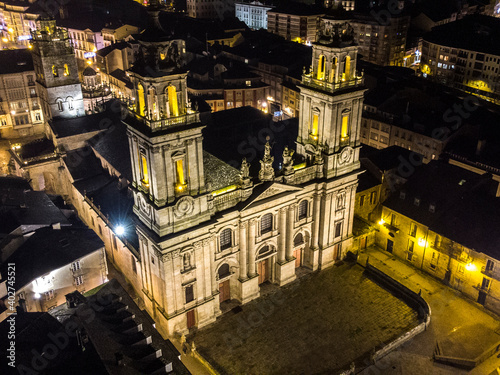 Catedral de Lugo de noche