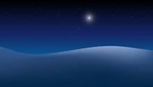 Illustration Of A Winter Night Starry Sky Backdrop, Astrology Background