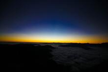 Aerial Shot From Mirador 4 Palos, Pinal De Amoles, Querétaro, México, View Of Mountains, Sunset