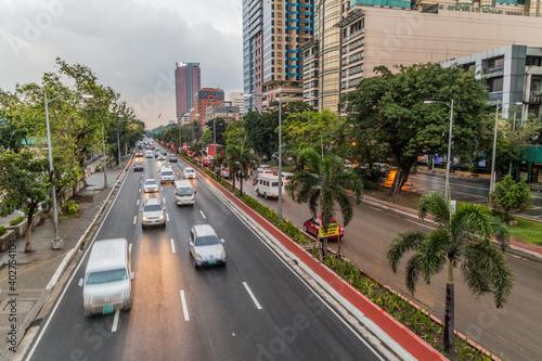 Fotografia, Obraz Roxas boulevard in Ermita district in Manila, Philippines