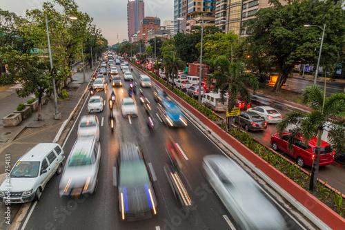 Foto Roxas boulevard in Ermita district in Manila, Philippines