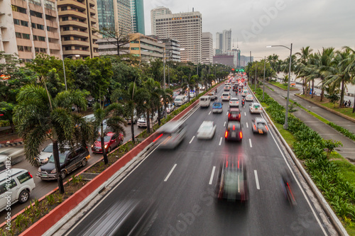 Obraz na plátne Roxas boulevard in Ermita district in Manila, Philippines
