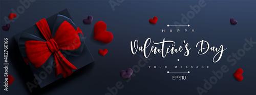 Obraz na plátně Valentine's day banner background