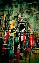 Abstrakcja Obraz Olejny Kolorowe Wzory
