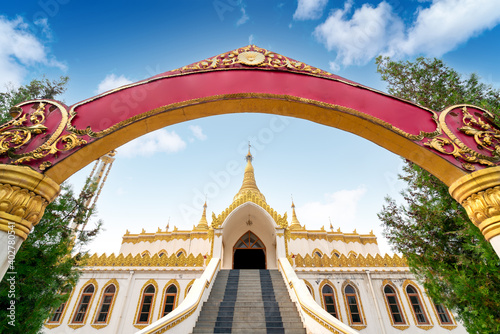 Fotografie, Obraz Myanmar is the country of pagodas, and 85% of the people in the country believe in Buddhism