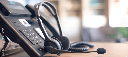 Fotografia Communication support, call center and customer service help desk