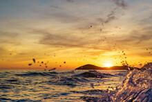 Sunset Over Sea, Calblanque Beach, Spain