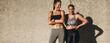 Leinwandbild Motiv Strong females after a workout