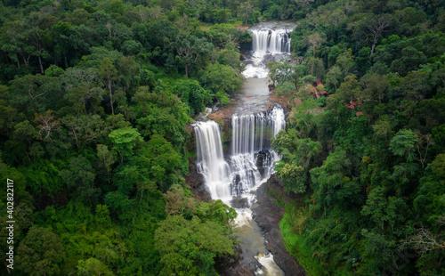 Long exposure image of Bousra Waterfall in Mondulkiri, Cambodia