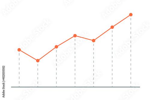 Photo 上昇傾向の折れ線グラフ