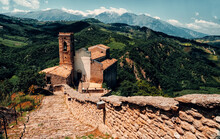Roccascalegna Castle Is A Defensive Structure Located In The Municipality Of Roccascalegna, In The Province Of Chieti, Italy. Located On Top Of A Rocky Ledge