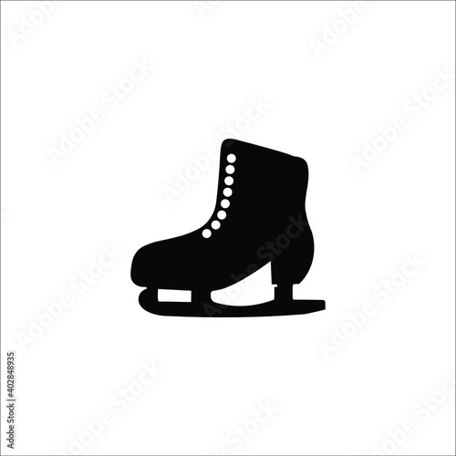 Fotografiet Winter sports skates vector icons