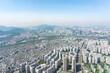 Seoul cityscape from the highest position, Korea