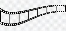 Film Strip Icon Isolated On Transparent Background. Vector Illustration.