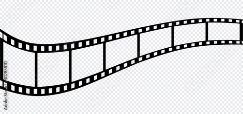 Tablou Canvas film strip icon isolated on transparent background