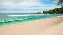 Tropical Sea Beach Background As Summer Landscape With Beach, Vacation Travel Concept