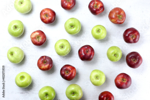 Papel de parede Red delicious and granny smith apples