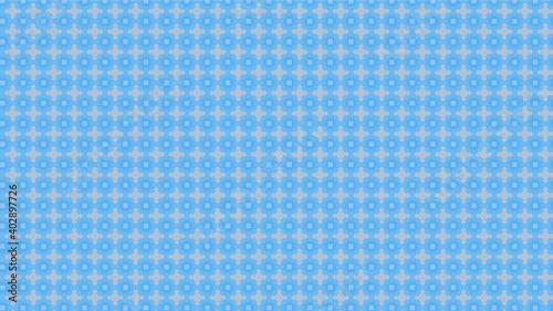 Photo Patrón soles y cruces - azul